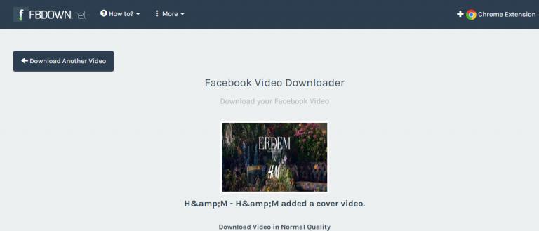 موقع FBDOWN.COM لتنزيل فيديوهات من الفيسبوك دون الحاجة للبرامج